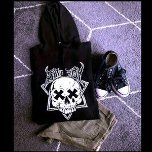 🖤 Sad Boys Club 🕸 'Sad Boy Skull Hoodie Black